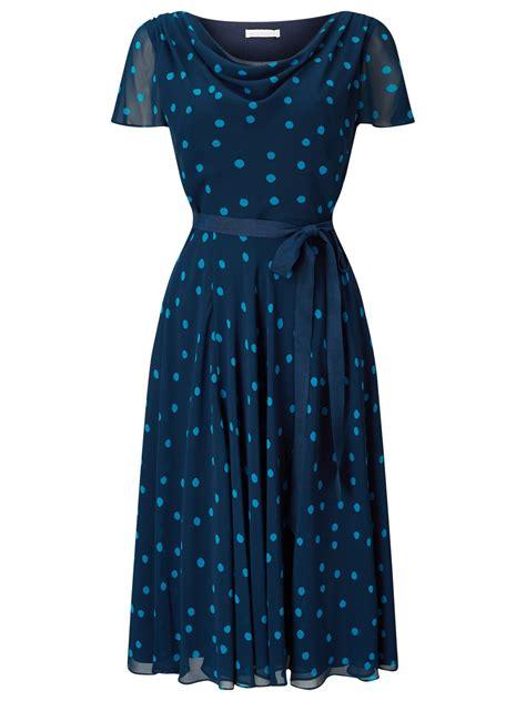 Dress Spot Blue jacques vert soft prom spot dress in blue lyst