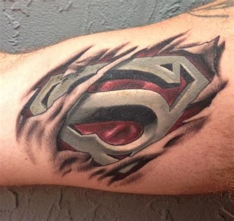 skin rip tattoo designs 100 wonderful superman tattoos