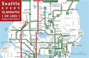 Seattle Metro Map by Frequent Transit Map Updated