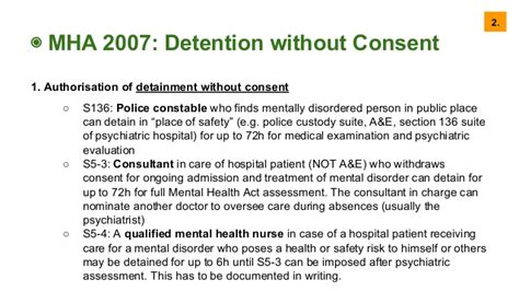 section 136 mental health act 2007 law and ethics for medics