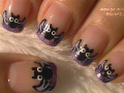 imagenes de uñas acrilicas de halloween bat french tip halloween nail art tutorial arte para las