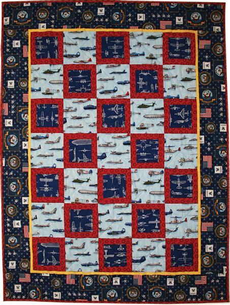 Us Navy Quilt by Naval Aviation Quilt Free Pattern Robert Kaufman Fabric