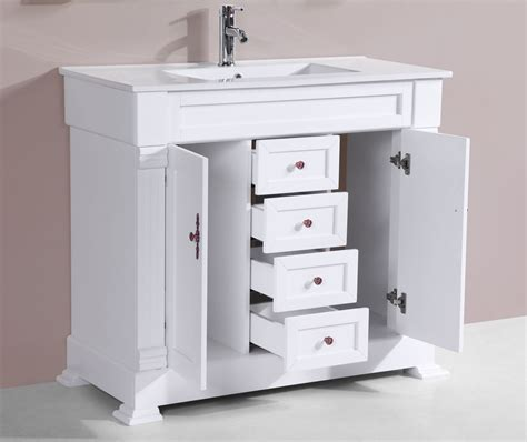 White Bathroom Vanity by 40 Quot Balboa White Single Traditional Bathroom Vanity With