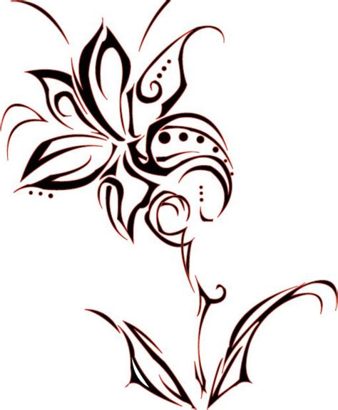 150 tribal flower tattoos design tribal tattoos with flowers tribal flower by killemall21