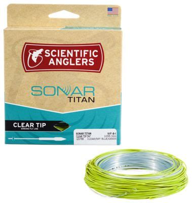 clear sinking fly line scientific anglers sonar titan clear tip sinking fly line