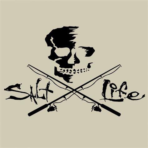 salt life decal salt life black skull and poles decal medium tackledirect