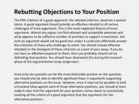 Rebuttal Essay Outline by Argumentative Essay Outline