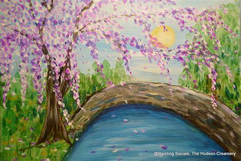 paint with a twist hudson paint wine cherry blossom bridge