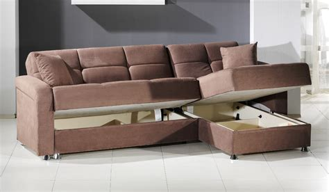 leather sleeper sofa with storage sleeper sectional sofa with storage chaise fabio sectional