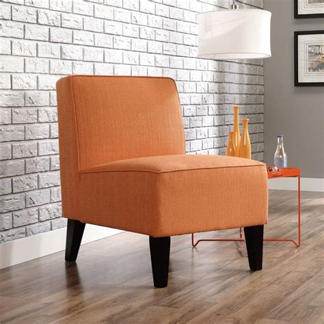 orange living room chairs accent chair in orange 416338