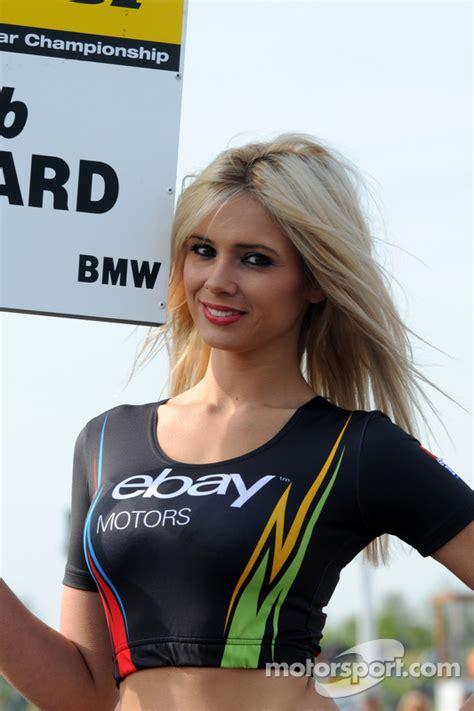 eBay Motors Grid girl at Thruxton