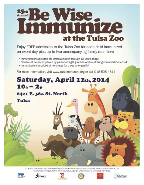 be wise immunize at the tulsa zoo tulsa health department