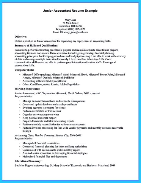 Accounting Resume by Sle For Writing An Accounting Resume