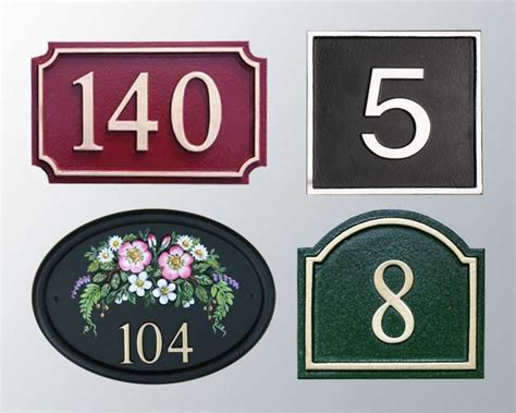 design house numbers uk house signs signs of the times