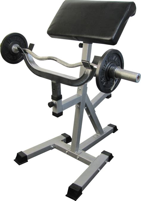 standing preacher bench standing arm curl preacher bench with pivoting arm pad