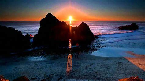 Pfeiffer Beach Keyhole Sunset (HD timelapse)   YouTube