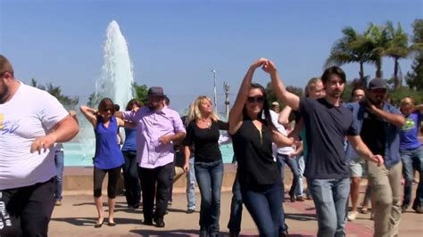 west coast swing flash mob international flashmob west coast swing san diego 1