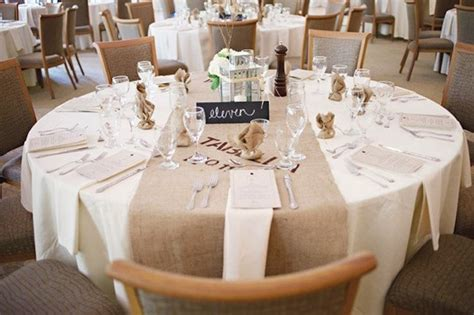 Recycled Burlap Wedding Reception Table Runner Onewed Com