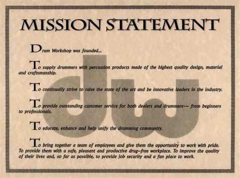 mission statement drum workshop inc