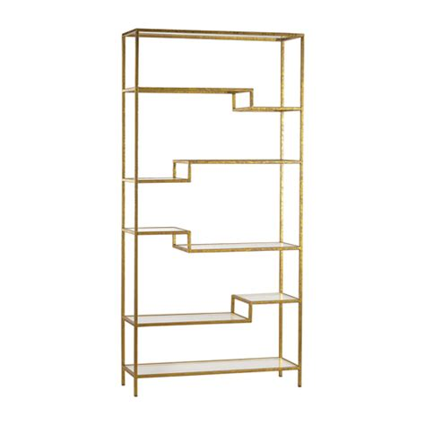 Gold And Mirrored Shelving Unit Gold Shelving Unit