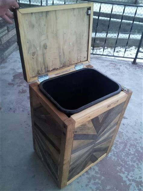 kitchen bin ideas diy pallet kitchen trash bin pallet furniture plans