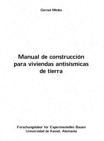 Ingenieria Civil: Manual de Construccion Para Viviendas