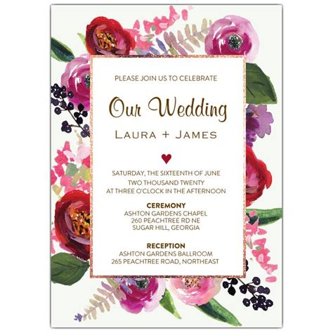 Floral Paper Wedding Invitations by Floral Garden Wedding Invitations Paperstyle