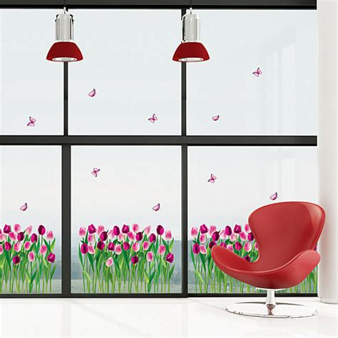 tulip wall stickers tulip flower garden wall stickers will endear your family