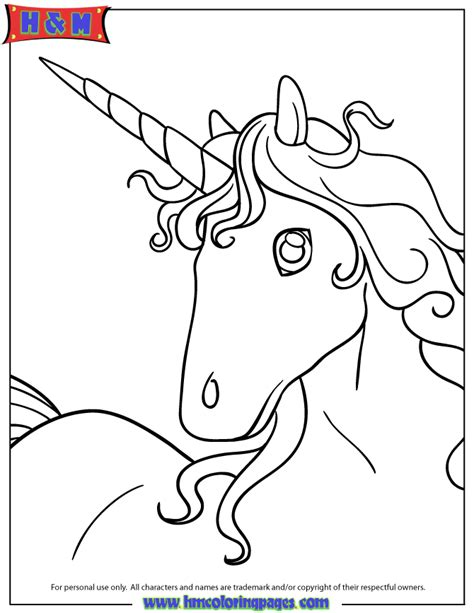 coloring pages unicorn head picture of unicorn head portrait coloring page h m