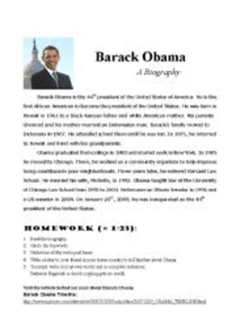 biography barack obama english english teaching worksheets obama