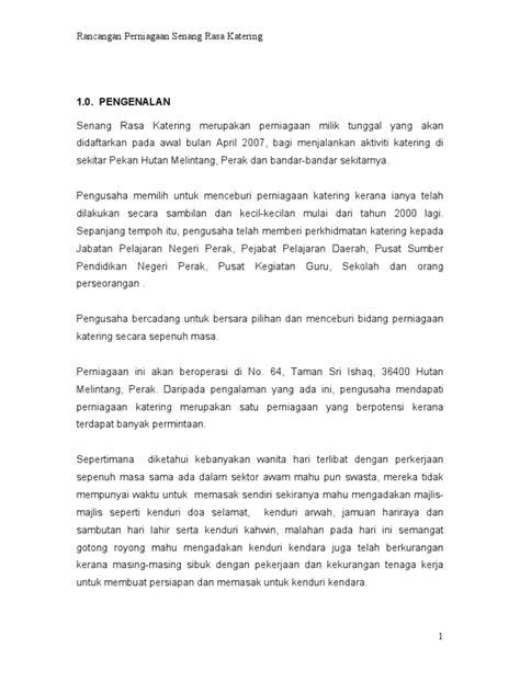 membuat proposal tender contoh kertas kerja rancangan perniagaan catering