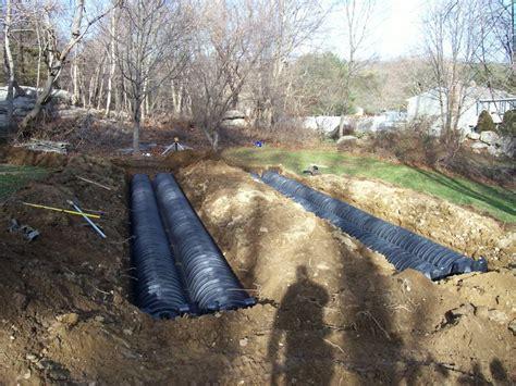 septic tank baffle repair infiltrator leach field