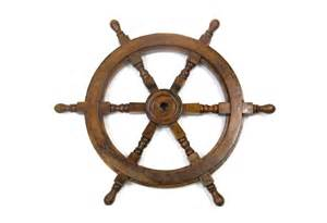 classic wooden decorative ship wheel helm