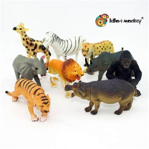 safari animal figures boxed set of 9 lello and monkey