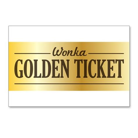 willy wonka golden ticket postcards package of 8 by