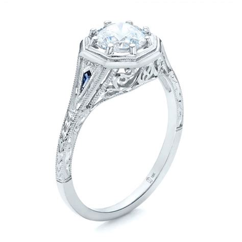 deco and sapphire engagement rings deco blue sapphire and engagement ring 101988