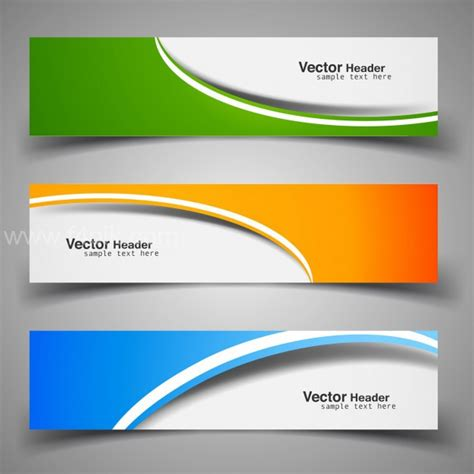 Header And Footer Design Vector Free | vector colorful decorative headers free download f4pik
