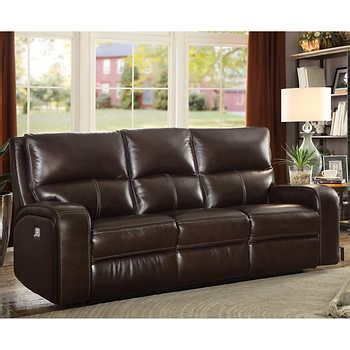 Leather Sofa Bed Costco by Zach Top Grain Leather Power Reclining Sofa 1118257 The
