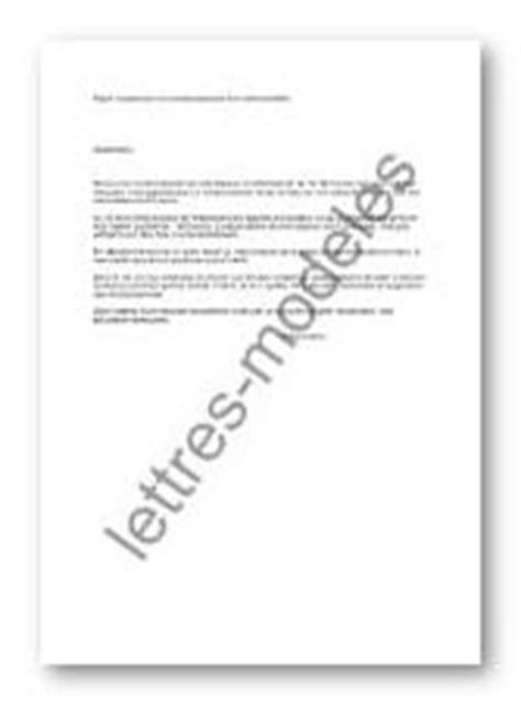 Modèle et exemple de lettres type : Suspension de