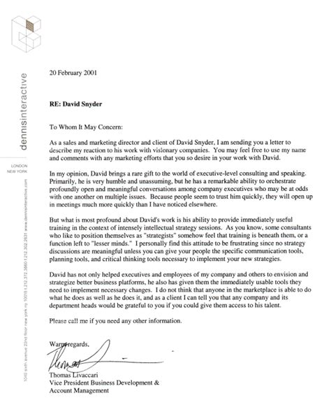 Letter Of Recommendation Template Doc exlcusive sle reference letter sales marketing letter