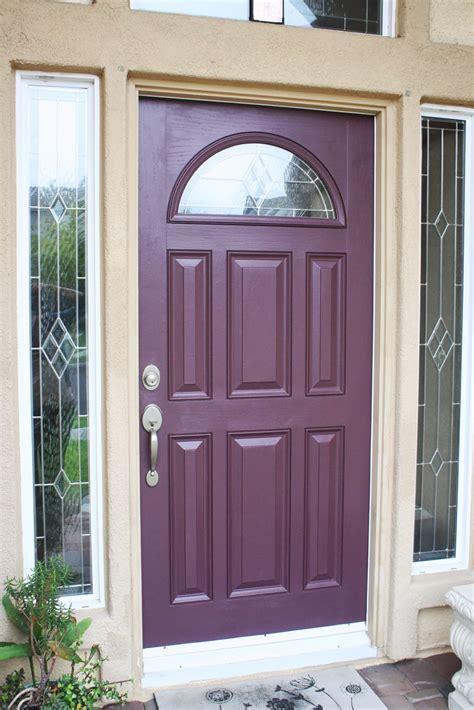 Love 2 Decorate Plum Front Door Plum Front Door
