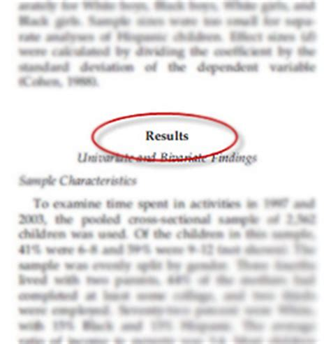 results section of research paper how to write the results section of a study from paper masters