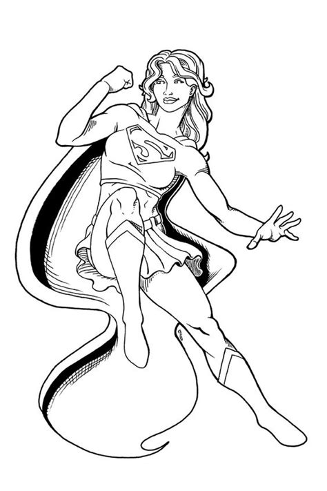 supergirl coloring pages supergirl coloring pages coloring home