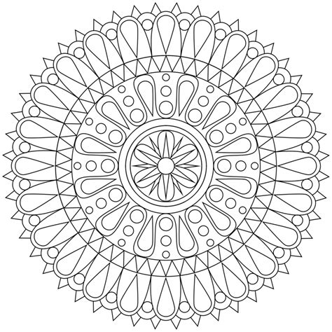 coloring pages printable mandala abstract colouring