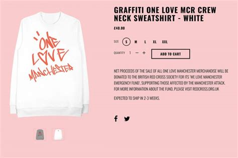 ariana grande s one love manchester jumper buy now for 163