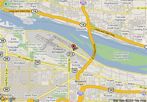 map of oregon airports portland oregon airport parking map images