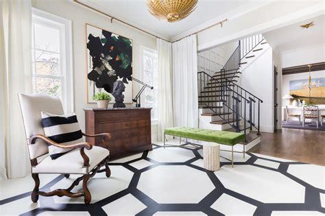 sophisticated black  white home   elle decor
