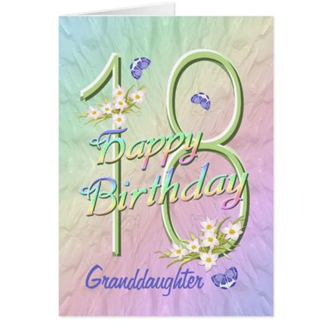 Granddaughter Birthday Card Happy 18th Birthday Granddaughter