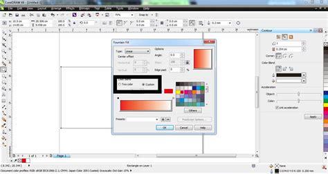 tutorial corel draw gradasi warna membuat warna gradasi dengan corel draw tukangketik