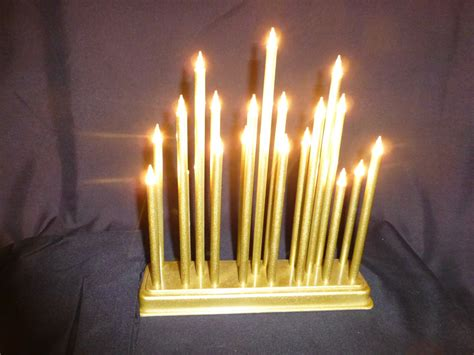 candlebridges light up 19 bulb gold candle bridge